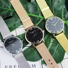 Rose Gold, Gold, Silver Watch with Black Face and Roman Numerals that Gives Back to Charity – Metal Women's Watches under $25 – Pretty Little Things Watch Sale – Gifts that Give Back – Affordable Gift Ideas for Girlfriend – ROX Jewelry