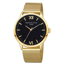 Gold Watch with Black Face and Roman Numerals that Gives Back to Charity – Metal Women's Watches under $25 – Pretty Little Things Watch Sale – Gifts that Give Back – Affordable Gift Ideas for Girlfriend – ROX Jewelry