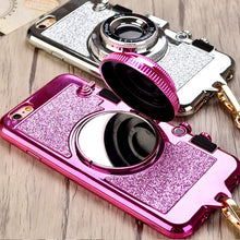 Phone Case Shaped like a Camera with Glitter in rose gold, gold, silver, hot pink, or black – On Trend Phone Cases – iPhone xr x xs phone case – Fashionable iPhone cases for her that give back to charity – Under $25 Gift Ideas