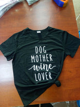 Dog Mother Wine Lover Shirt that Gives Back to Charity by ROX – Great gifts that give back for her under $25 – Apparel for a cause Great gifts for wine lovers