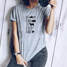 Be Kind to Every Kind Shirt in Gray – Kind Shirt – Apparel that Gives Back to Charity by ROX Shirts in Kindness Collection – Positive Apparel – Casual Outfit Ideas – Vegan Gift Ideas