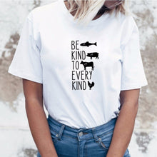 Be Kind to Every Kind Shirt in White – Kind Shirt – Apparel that Gives Back to Charity by ROX Shirts in Kindness Collection – Positive Apparel – Casual Outfit Ideas – Vegan Gift Ideas