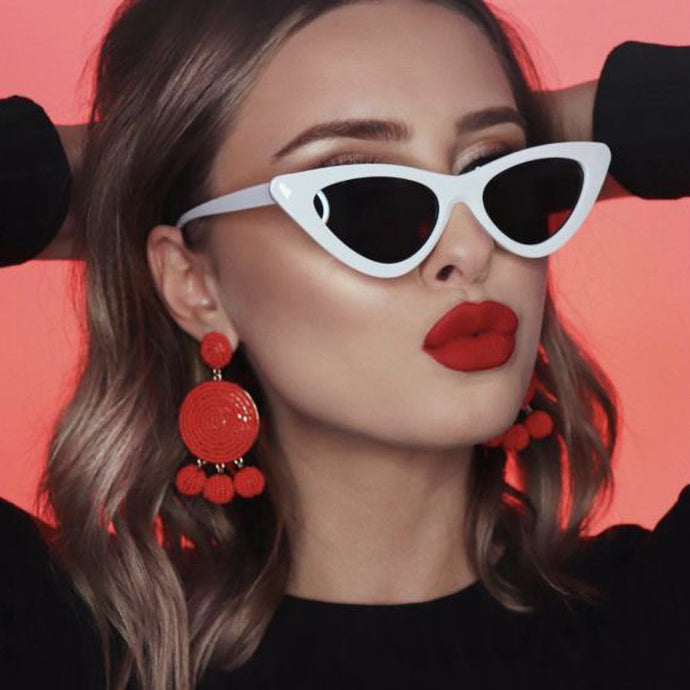 Alexia Angled Triangle Sunglasses that Give Back to Charity by ROX in White and Gray – Trendy and Affordable Sunnies that Give back