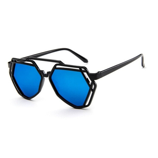 Erin Hexagon Sunglasses that Give Back to Charity by ROX in Blue – Trendy and Affordable Sunnies that Give back