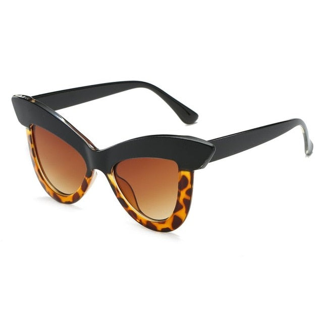 Chiara Bold Cat Eye Sunglasses that Give Back to Charity by ROX in Tortoise and Black – Trendy and Affordable Sunnies that Give back
