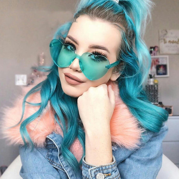 Zoe Heart Sunglasses that Give Back to Charity by ROX in Aqua – Trendy and Affordable Sunnies that Give back