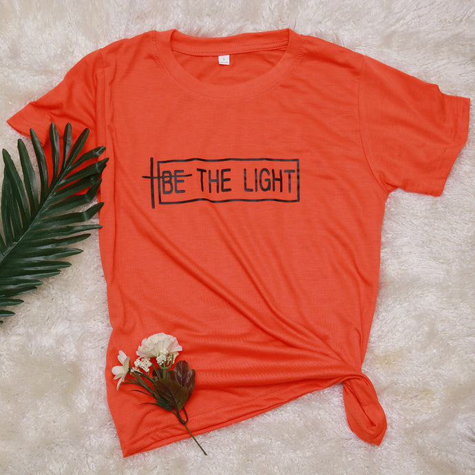 Be The Light Shirt that Gives Back to Charity by ROX – Great gifts that give back for her under $30 – Apparel for a cause Faith Gifts, Christian gift ideas