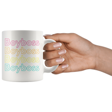 Boyboss rainbow coffee mug that gives back to charity great gifts for him empowering men pride rainbow