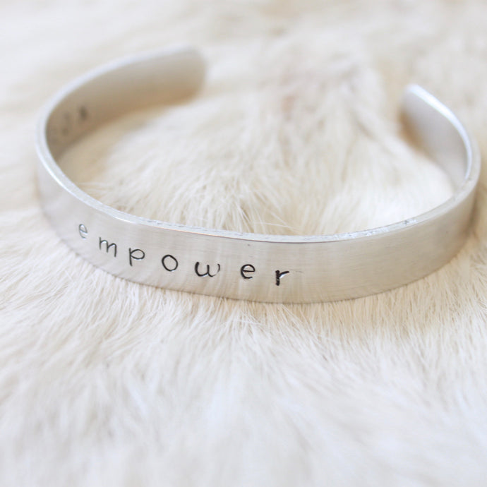 Empower Cuff Bracelet that Empowers Women by Giving Back to Charity by ROX Jewelry in Austin, Texas » Great Gift ideas under $30 that empower women