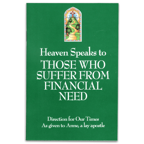 Heaven Speaks to Those Who Suffer from Financial Need