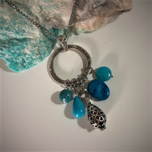 Blue Candy Jade, Crazy Lace Agate, Turquoise Howlite and Dyed Marble Essential Oil Diffusing Necklace