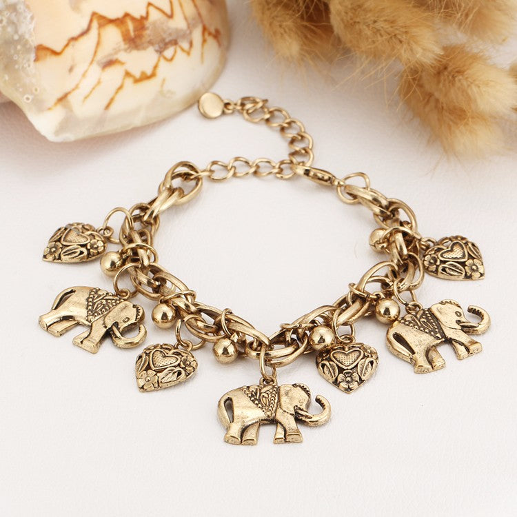 bracelet charm sevil plated product gold elephant