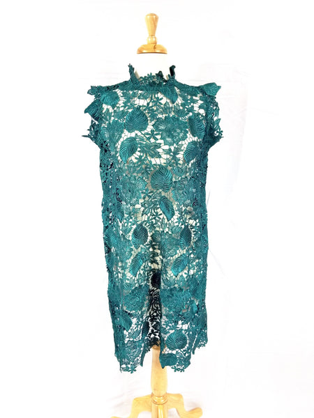 Valentina lace shift dress (Green)