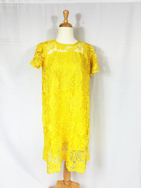 Valentina lace dress (Yellow)