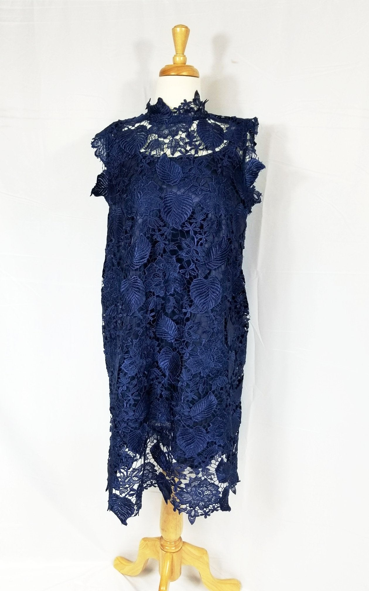 Valentina lace dress (Navy blue)