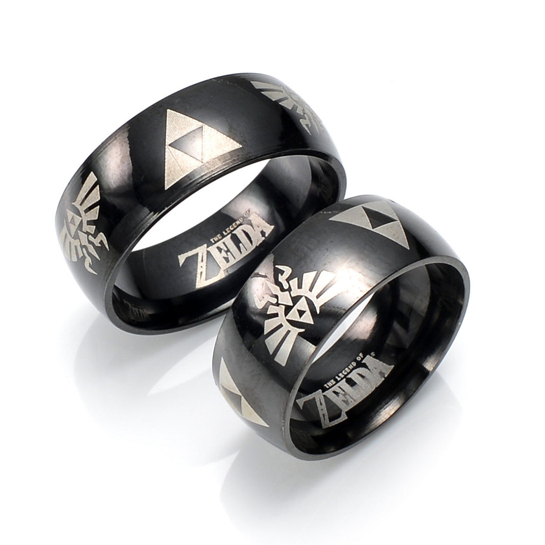 The Legend of Zelda Cosplay Action Figure Titanium Steel Ring