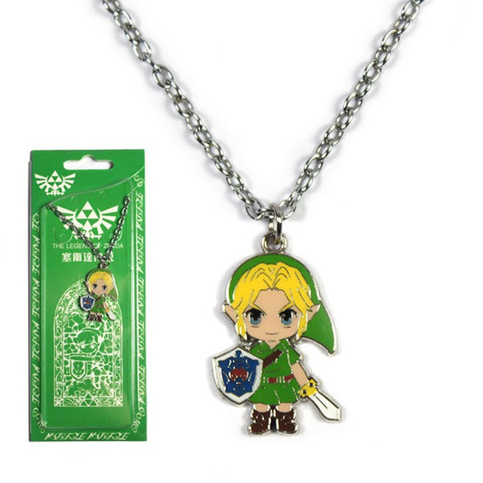 The Legend of Zelda Link  Sword Shield Metal Pendant