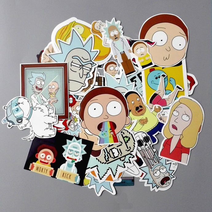 Rick and Morty 35Pc Sticker Decal!