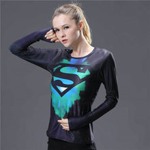Captain America  Fitness O-Neck (Girls)