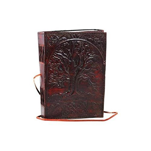HandMadeCart Sacred Oak Tree Leather Blank Book