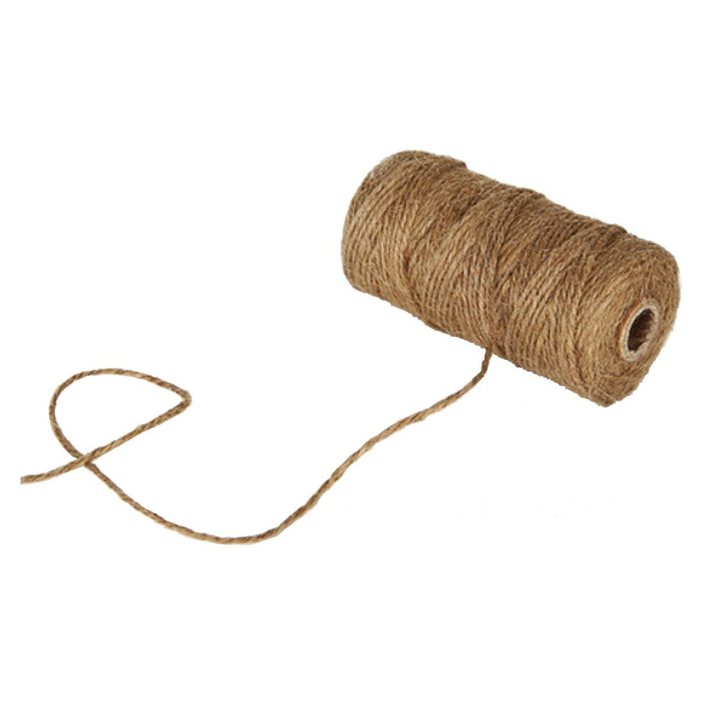 HandMadeCart Jute twin 6 Ply Strong Natural Twine String for Cooking, Package, Roasting, Crafting (1Pcs, 6ply, 2.2mm)