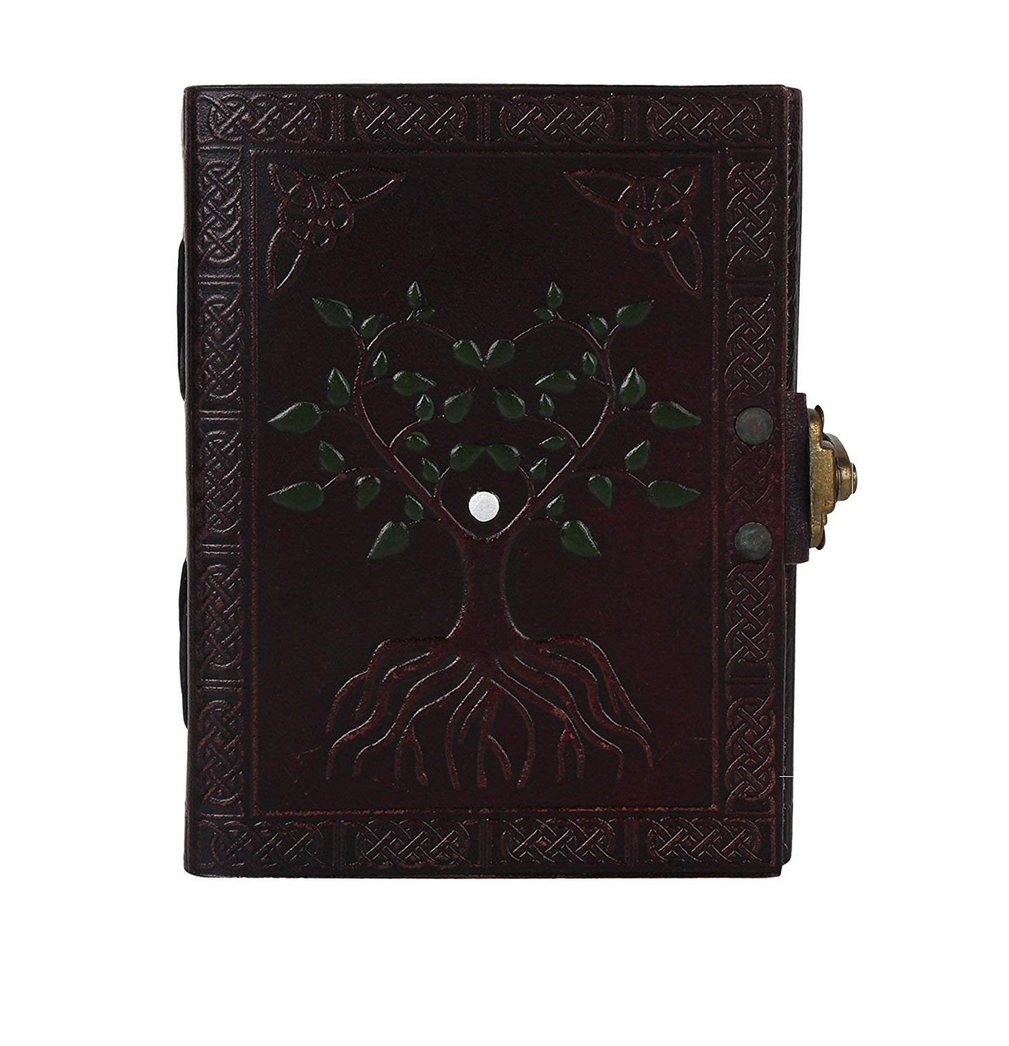 HandMadeCart Painted Tree of Life Leather Journal Diary