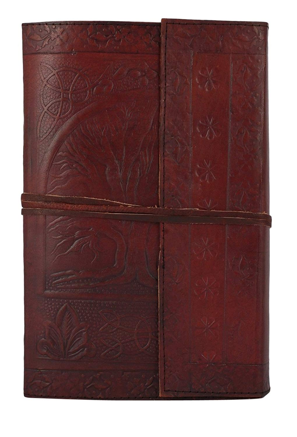 "HandMadeCart Vintage Antique Looking Genuine Leather Journal Diary Notebook"" Tree of Life"""