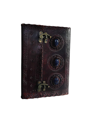 HandMadeCart Leather Journal Book Medieval Stone Embossed 10 X 7 Inches