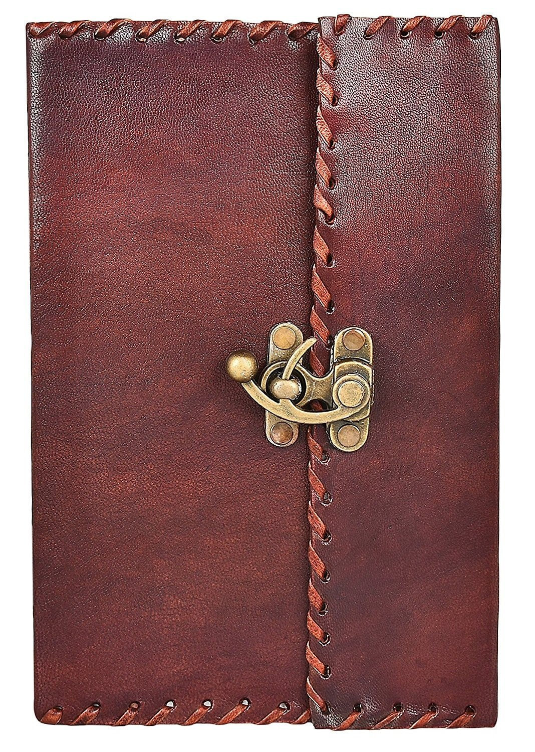 HandMadeCart Vintage Antique Looking Genuine Leather Journal Diary Notebook