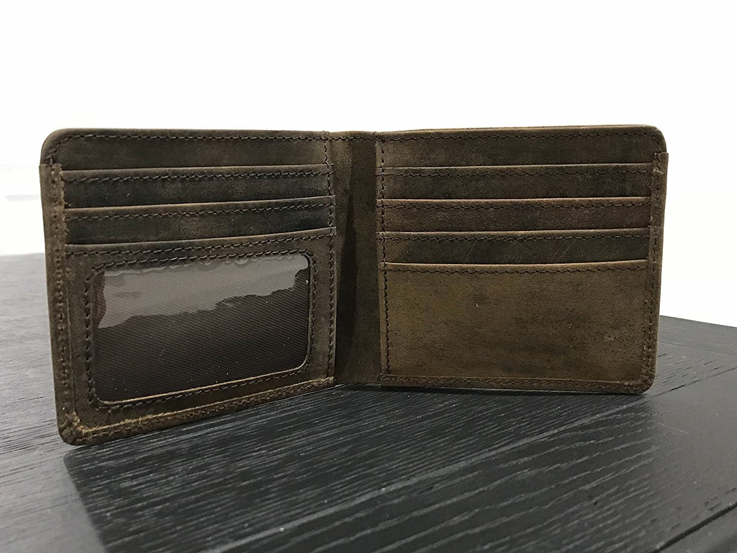 Men Slim Leather Wallet Bi-fold
