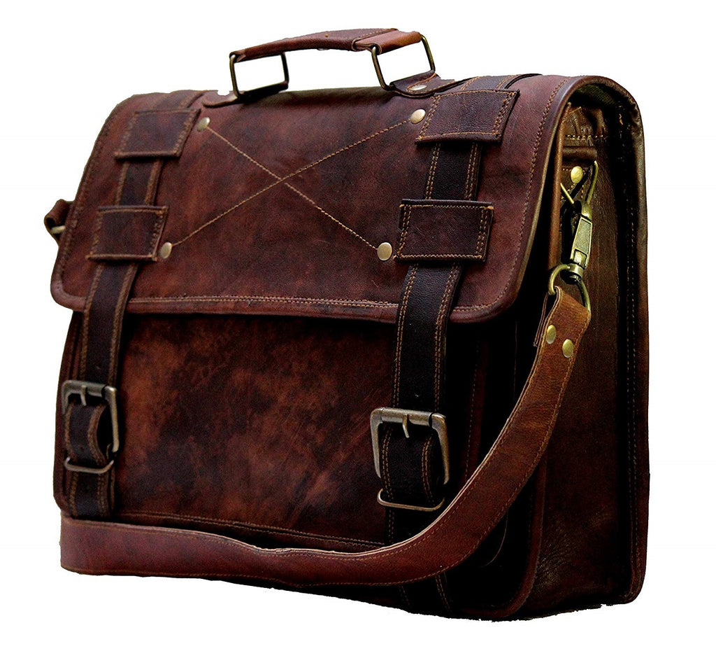 Leather Messenger Bags 15 Inch For Men Women Satchel Briefcase Unisex Cross  Body Bag 6eebc2af45410
