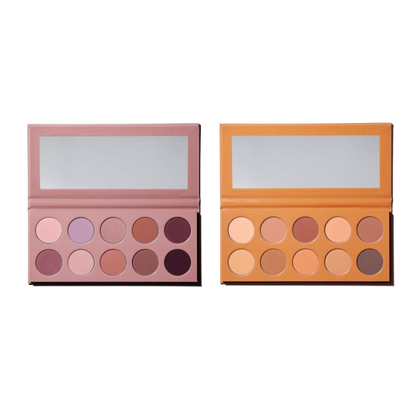 Matte Mauve & Matte Honey Pressed Powder Palette Duo