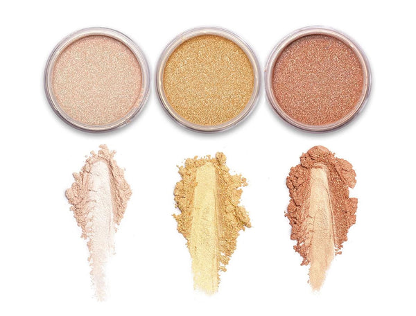 Shimmer Powder for Face & Body Trio