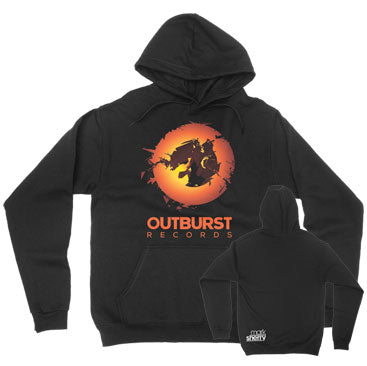Mark Sherry - Outburst Records - Black Unisex Pullover Hoodie