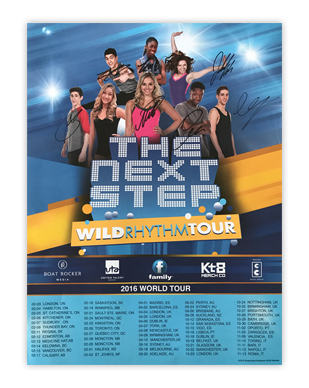 The Next Step 2016 - Wild Rhythm Tour Autographed Poster