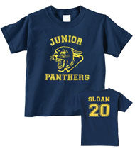 SLOAN -Junior Panthers- Navy Blue YOUTH T-Shirt