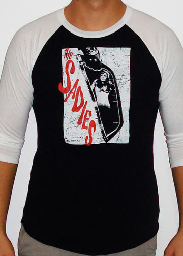 NEW! THE SADIES Saw 3/4 Sleeve Shirt - Black/White