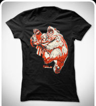 KILL SHAKESPEARE Shakey and the Bear GIRLS T-Shirt - Black