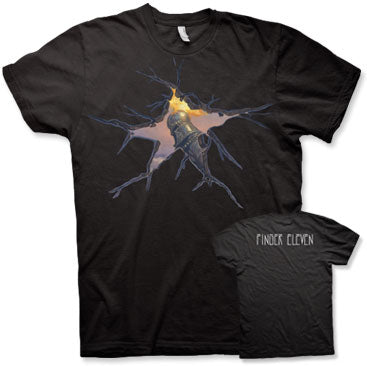 FINGER 11 - Cracked Sky - Black T-Shirt