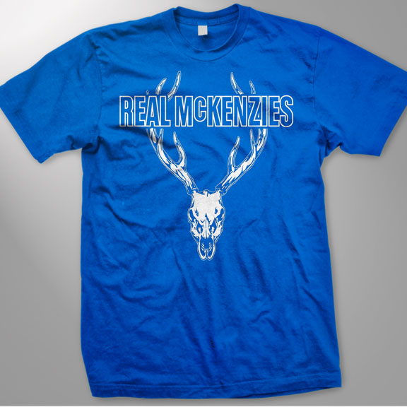 THE REAL MCKENZIES -Stag- Guys T-Shirt - Royal Blue