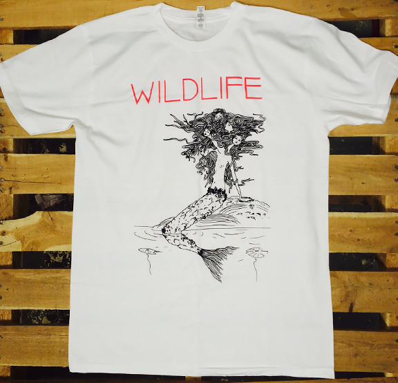 WILDLIFE -Mermaid- Guys White Tee