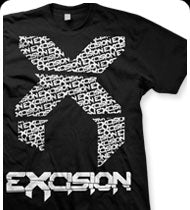 EXCISION -Big X- T-Shirt - Black