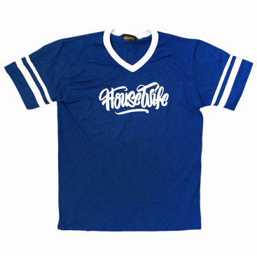 HOUSEWIFE All Day Tee - Royal Blue / White
