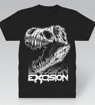 EXCISION -Fossil Rex- Black T-Shirt