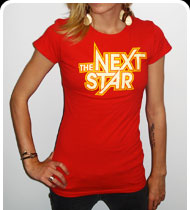 THE NEXT STAR Logo Girls T-shirt - Red