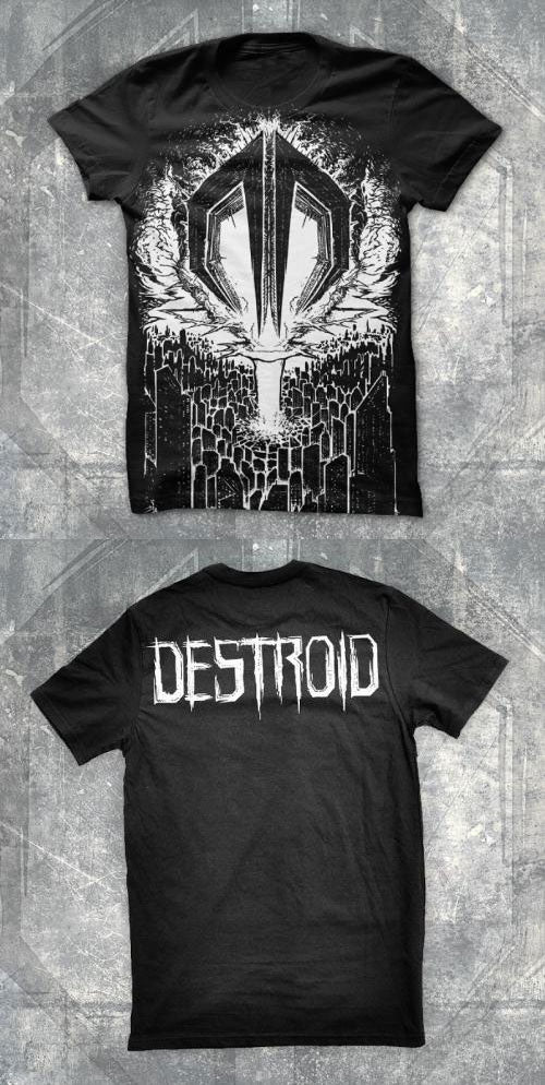 EXCISION -Destroid Ship- Black w/ White Print Tee