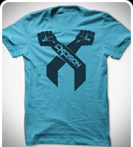 EXCISION Black Arms T-Shirt - Blue