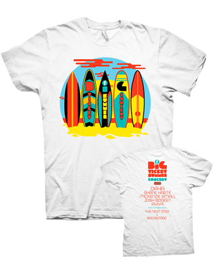 Big Ticket Summer Concer 2016 - Surboard T-Shirt - White