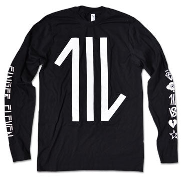 FINGER 11 - Logo - Long Sleeve Shirt
