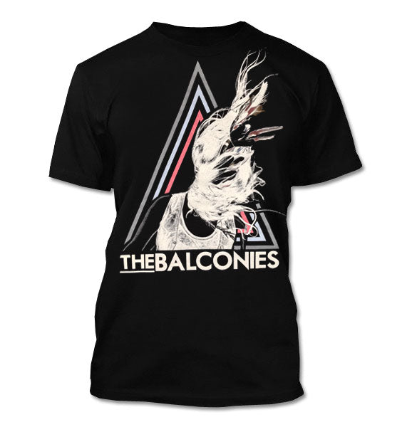 The Balconies Triangle Guys Black T-Shirt
